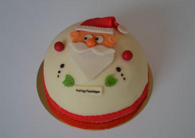 Kerstman-aardbeientaart